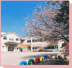 園舎と桜の写真
